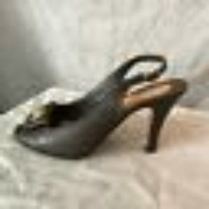 Coach Womens Brown Heel Sandals Size US 7.5 B